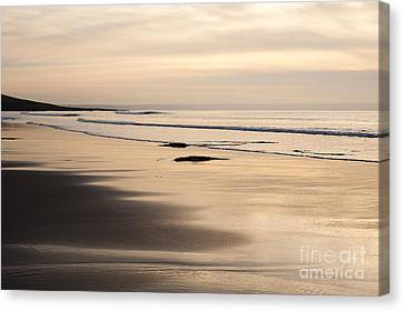 Croyde At Dusk Canvas Print by Anne Gilbert