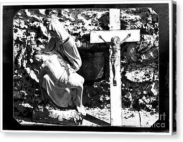 Crucified Canvas Print by John Rizzuto