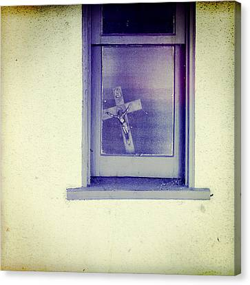 Crucifix In A Window Canvas Print by YoPedro