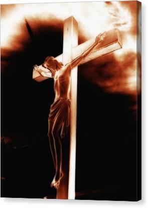 Crucifix Canvas Print by Steve Hurt
