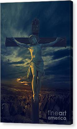 Jesus Canvas Print - Crucifixcion by Jelena Jovanovic