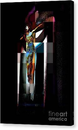 Canvas Print featuring the photograph Crucifixion by Jodie Marie Anne Richardson Traugott          aka jm-ART