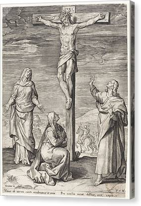 Crucifixion Of Christ, Anonymous, Frans Van Den Wijngaerde Canvas Print by Quint Lox