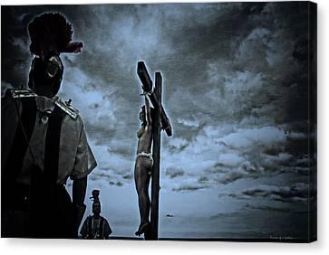 Crucifixion Scene I Canvas Print by Ramon Martinez