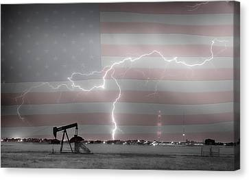 Crude Oil And Natural Gas Striking Across America Bwsc Hdr Canvas Print