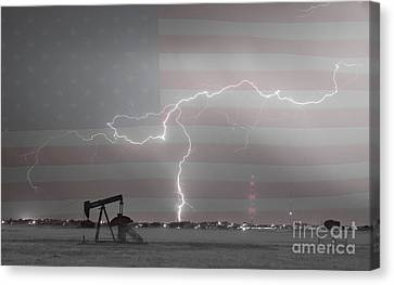 Crude Oil And Natural Gas Striking Across America Bwsc Canvas Print by James BO  Insogna