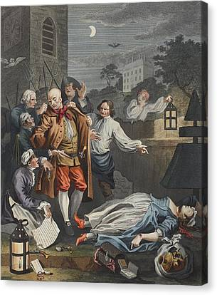 Cruelty In Perfection, From The Four Canvas Print by William Hogarth