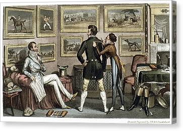 Cruikshank Tailor, 1820 Canvas Print by Granger