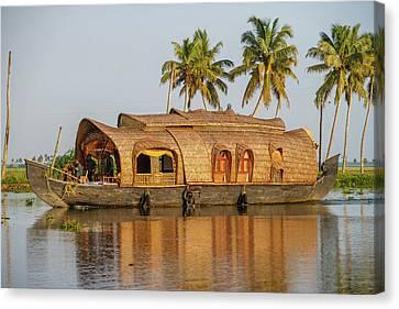 Cruise Boat In Backwaters, Kerala, India Canvas Print
