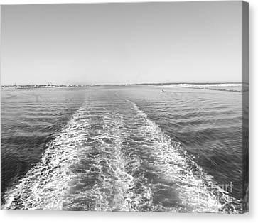 Cruise Ship Backwash Canvas Print by WaLdEmAr BoRrErO