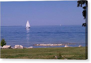 A Hot Summer Day Canvas Print - cruisin down the Bay on a Sunday afternoon by Dawn Koepp