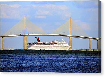 Cruising Tampa Bay Canvas Print