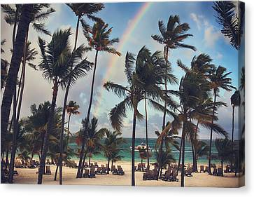 Cruising Under The Rainbow Canvas Print by Laurie Search