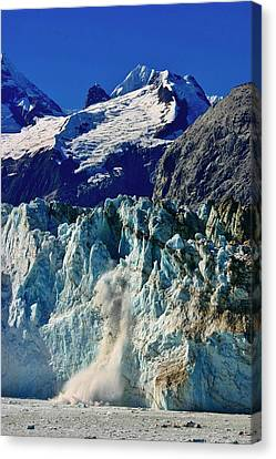 Canvas Print featuring the photograph Crumbling Glacier by Henry Kowalski