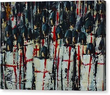 Crusade Shields 2. Canvas Print by Kaye Miller-Dewing