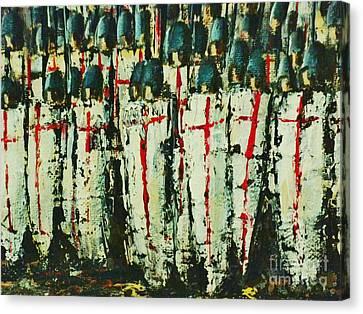 Crusade Shields 3. Canvas Print by Kaye Miller-Dewing