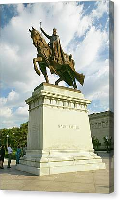 Statue Portrait Canvas Print - Crusader King Louis Ix Statue In Front by Panoramic Images