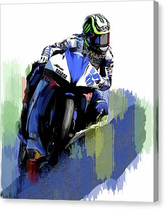 Crutch Cal Crutchlow Canvas Print by Iconic Images Art Gallery David Pucciarelli