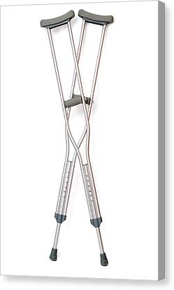 Crutches Canvas Print by Daniel Sambraus