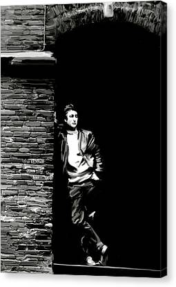 Cry For A Shadow John Lennon Canvas Print by Iconic Images Art Gallery David Pucciarelli
