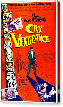 Cry Vengeance, Us Poster,  Mark Stevens Canvas Print by Everett