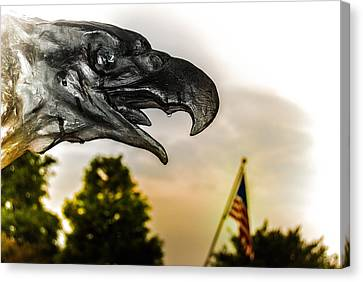 War Torn Flag Canvas Print - Crying Eagle by Jon Cody