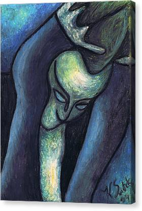Crying Woman Canvas Print by Kamil Swiatek