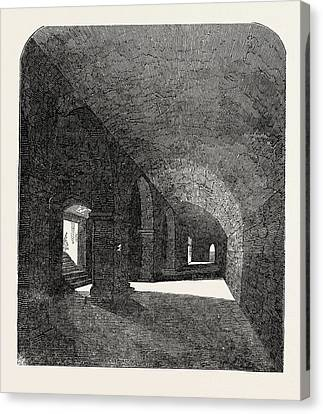 Crypt Discovered Under The Deanery House Canvas Print by English School
