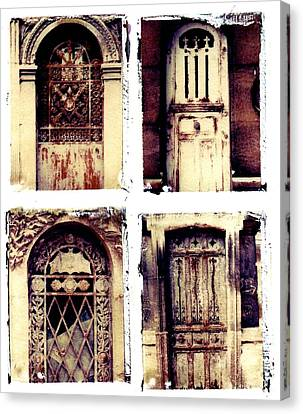 Crypt Doors Canvas Print by Jane Linders