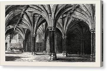 Crypt Of The Guildhall London Uk Canvas Print by English School