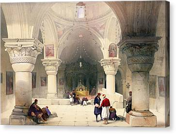 Crypt Of The Holy Sepulchre Canvas Print by David Roberts