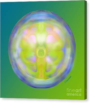 Crystal Ball Canvas Print by Christine Fournier
