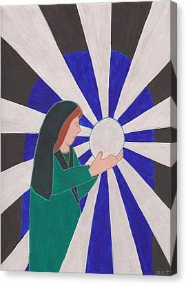 Crystal Ball Reader Canvas Print by Barbara St Jean