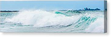 Crystal Blue Waves Canvas Print by Parker Cunningham