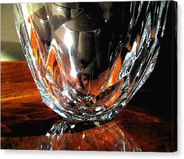 Canvas Print featuring the photograph Crystal Bowl With Watercolor Filter by Mary Bedy