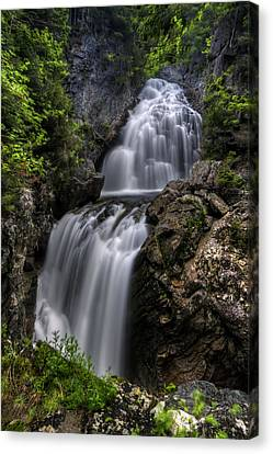 Crystal Cascade In Pinkham Notch Canvas Print