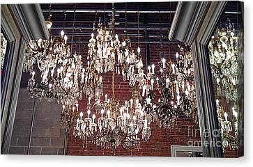 Crystal Chandeliers Canvas Print