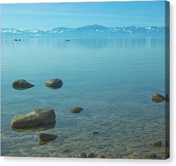 Crystal Clear Lake Tahoe Canvas Print by Kim Hojnacki