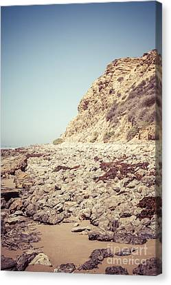 Crystal Cove State Park Cliff Picture Canvas Print by Paul Velgos