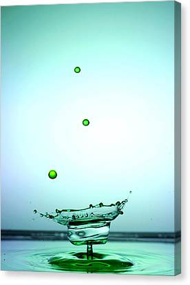 Crystal Cup Water Droplets Collision Liquid Art 4 Canvas Print by Paul Ge