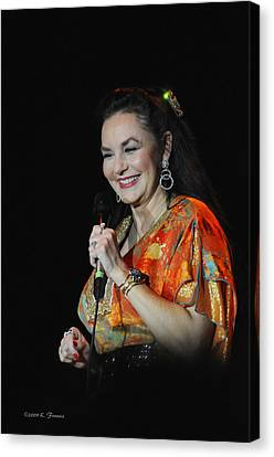 Crystal Gayle Canvas Print by Kenny Francis