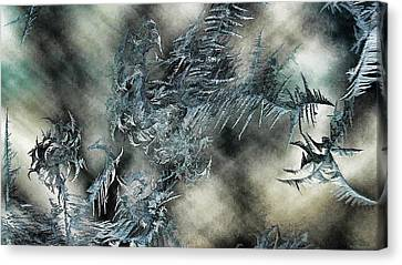 Canvas Print featuring the digital art Crystal Heaven by Steven Richardson