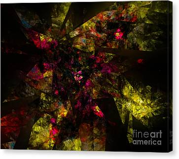 Canvas Print featuring the digital art Crystal Inspiration #1 by Olga Hamilton