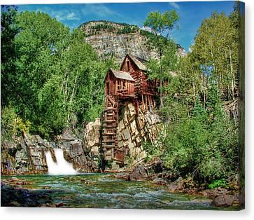 Crystal Mill Crystal Colorado Canvas Print by Ken Smith