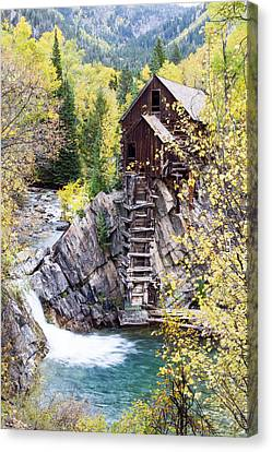 Crystal Colorado Canvas Print - Crystal Mill Is Perched Precariously by Robbie George