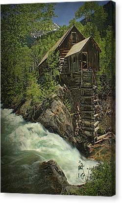 Canvas Print featuring the photograph Crystal Mill by Priscilla Burgers