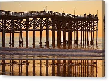 Canvas Print featuring the photograph Crystal Pier by Nathan Rupert