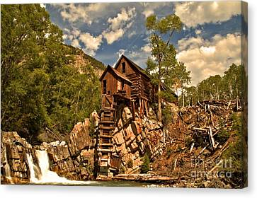 Crystal Colorado Canvas Print - Crystal River And Crystal Mill by Adam Jewell