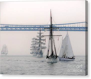 Crystal Ships On The Water Nyc Canvas Print by Ed Weidman
