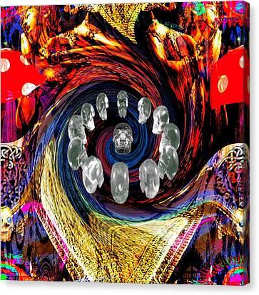 Solemn Relics Canvas Print - Crystal Skulls by Jason Saunders
